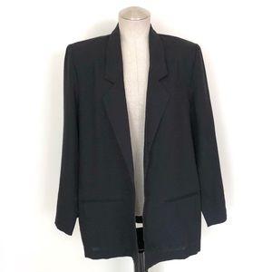 Vintage Lightweight Oversized Blazer Black Size 12
